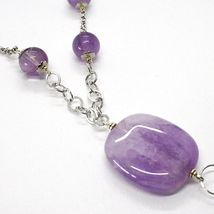 Necklace Silver 925, Amethyst round and Rectangular, Quartz Smoky Oval, Pendant image 4