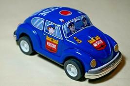 "Vintage Tin Toy Japan New Sanko Friction 5"" Volkswagen WV Blue Beetle Re... - $22.72"