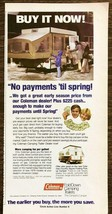 1979 Coleman Fold Down Camping Trailers PRINT AD Great Early Season Price - $9.69