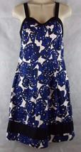 RICHARD CHAI Target Blue Floral Cotton Princess Dress Sweetheart Neck Si... - $19.80