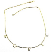 Necklace Yellow Gold 750 18K, Name Sofia, Letters Hanging, Personalized - $946.18