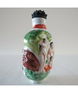 "Antique Chinese porcelain Snuff Bottle naked women 2.8""x1.6x1.4 early 20... - $395.99"