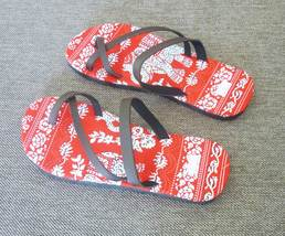 Elephant slippers ethnic S M L XL CUTE 23.5 24.5 26.5 28 cm.Tribal sandals  - $10.00