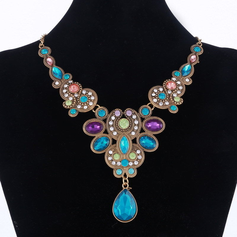 Luxury Jewelry Colorful Crystal Choker Necklace For Women Necklaces & Pendants