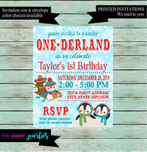 Snowflake Winter Wonderland Onederland Birthday Party Invitations Invite... - $1.10