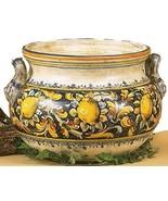 MAJOLICA: Extra large cachepot ''MAJOLICA: Limoni'' [#283/40] - $1,050.71
