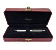 New! Auth CARTIER Santos de Paladium-Finish Steel Roller Ballpoint Pen S... - $240.00