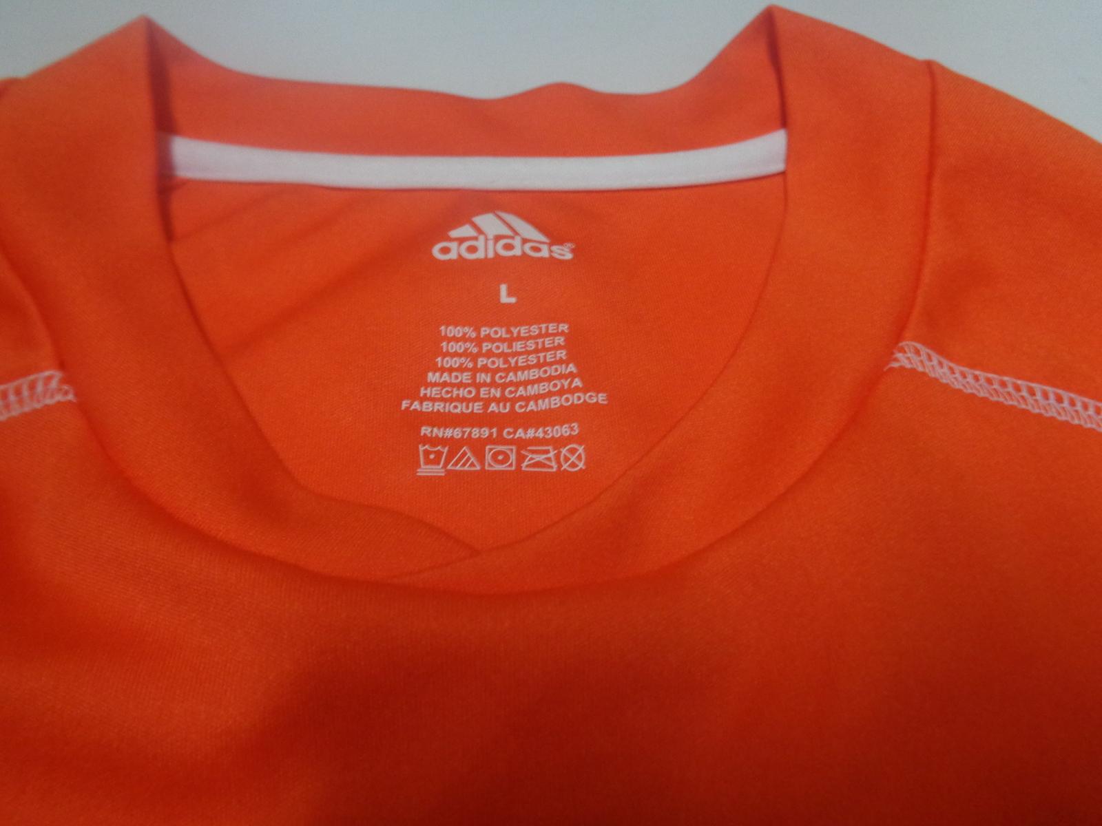 Adidas Soccer Shots Youth Large NWOT Orange Short Sleeve Shirt