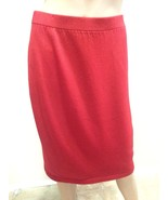 St. John Collection Marie Gray Dark Red Santana Knit Pencil Skirt 8 - $123.49