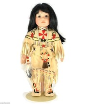 Signed Buffalo Child Porcelain Doll by Carol Theroux Artists Limited Edi... - $68.00