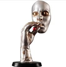 Retro Meditators Abstract Sculpture Man Smoking Cigar Creative Face Stat... - $113.60