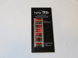 Avon Nail Art design strips 18 nail strips nail I743 Totally Tartan French tip;; - $10.93