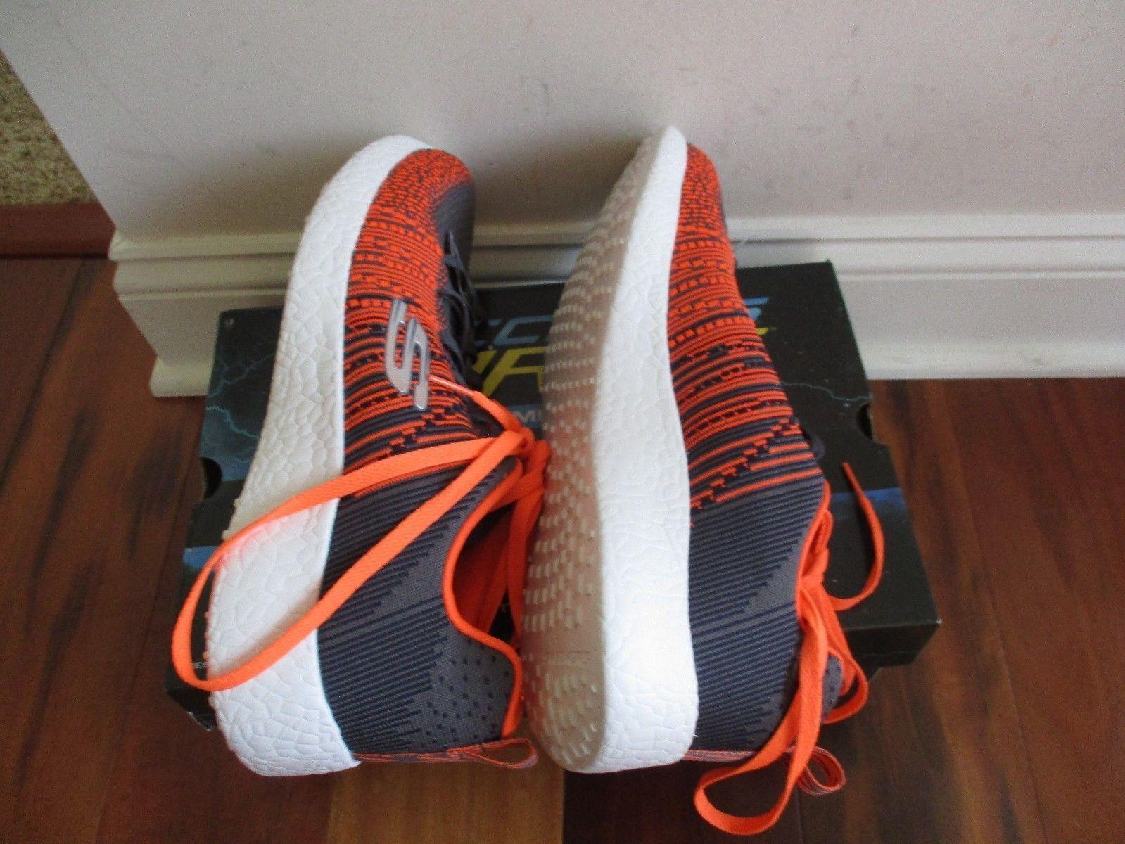 "BNIB Skechers® Energy Burst ""In The Mix"" Men's Sport Shoes, Grey/orange, $90"