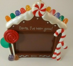 Hallmark Keepsake Ornament 2011 Santa I've Been Good Child Photo Holder  - $4.95
