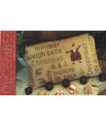 December Word Play cross stitch chart  With Thy Needle Brenda Gervais  - $9.00
