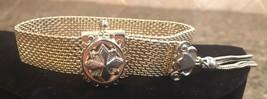 Vintage PAMAR Gold Tone Mesh Bracelet With Tassel - $21.37