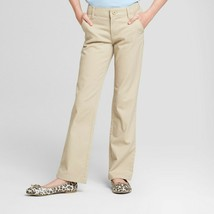 Cat & Jack - Girls' Bootcut Twill School Uniform Chino Pants - Oyster - ... - $6.92