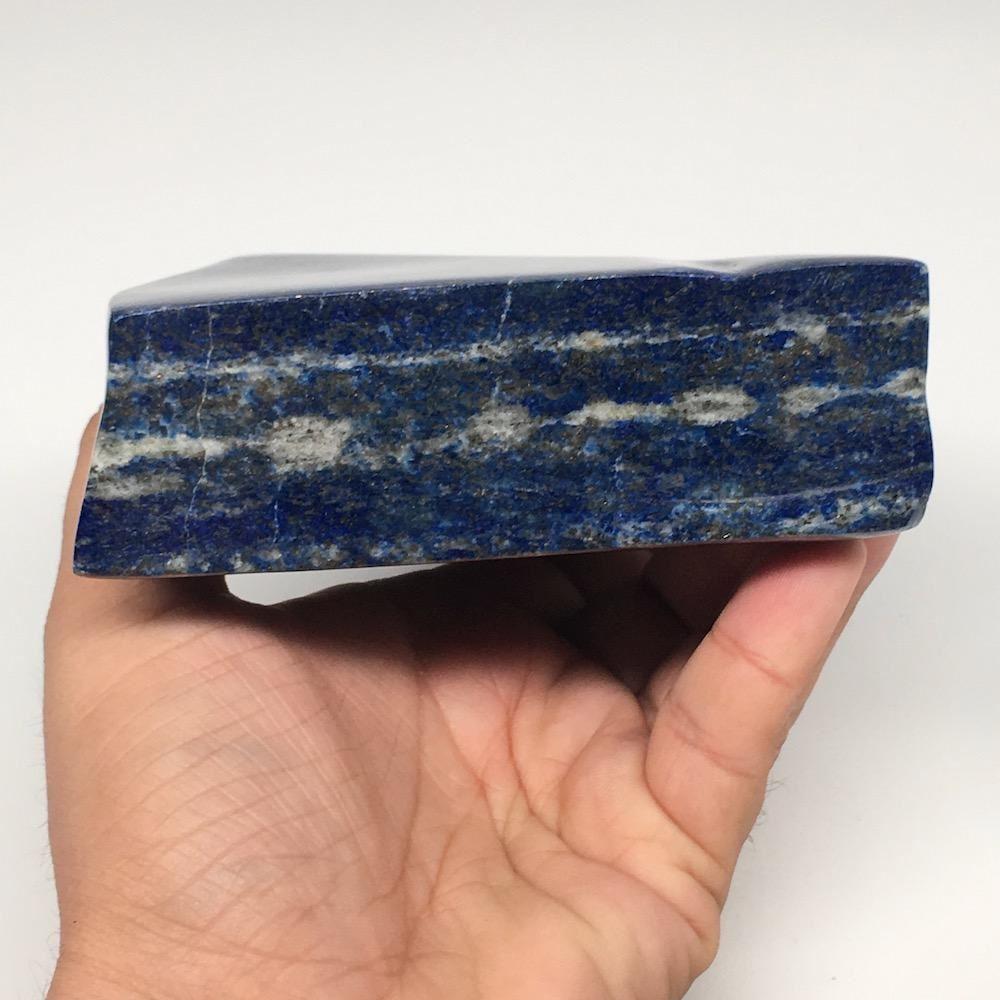 "5.7""x4.2""x1.6"", 912g,Natural Polished Freeform Lapis Lazuli @Afghanistan,PL89"