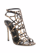 Sergio Rossi Puzzle Leather Cage Sandals 38 MSRP $979.00 - $534.60