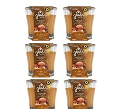 Lot of 6 Glade Nutcracker Delight 3.4 oz Candles Rich Hazelnut and Praline - $22.76
