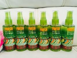 6 BATH & BODY WORKS Fresh Brazil Citrus Travel Fragrance Mist Body Spray - $29.62
