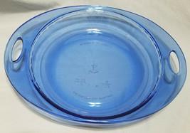 """Anchor Hocking """"Premium"""" Cobalt Blue Pie/Quiche Pan with Handles (9 inch... - $13.50"""