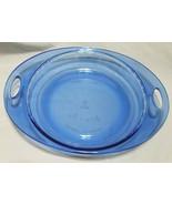 """Anchor Hocking """"Premium"""" Cobalt Blue Pie/Quiche Pan with Handles (9 inch... - $7.50"""