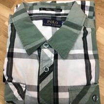 $98 Polo Ralph Lauren Men's Classic Fit Green Plaid Button Down Shirt - ... - $34.64