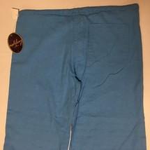 Ashley Junior Casual Capri Linen Pants Sz L Ocean Blue image 6