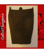 "Ralph Lauren 29"" W x 26"" L Brown Tweed Straight Lined Wool Skirt - $29.69"