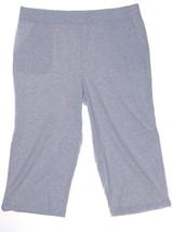 Karen Scott Straight-leg Capri Pants Pale Grey Heather Size Xl - $15.74