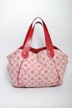 LOUIS VUITTON Red Canvas Cabas Ipanema PM Bag Handbag 2009 Collection To... - $673.23