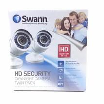 Twin Pack Swann SWPRO-hdcamwh2-wm Day Night Security Camera Kit - $44.55