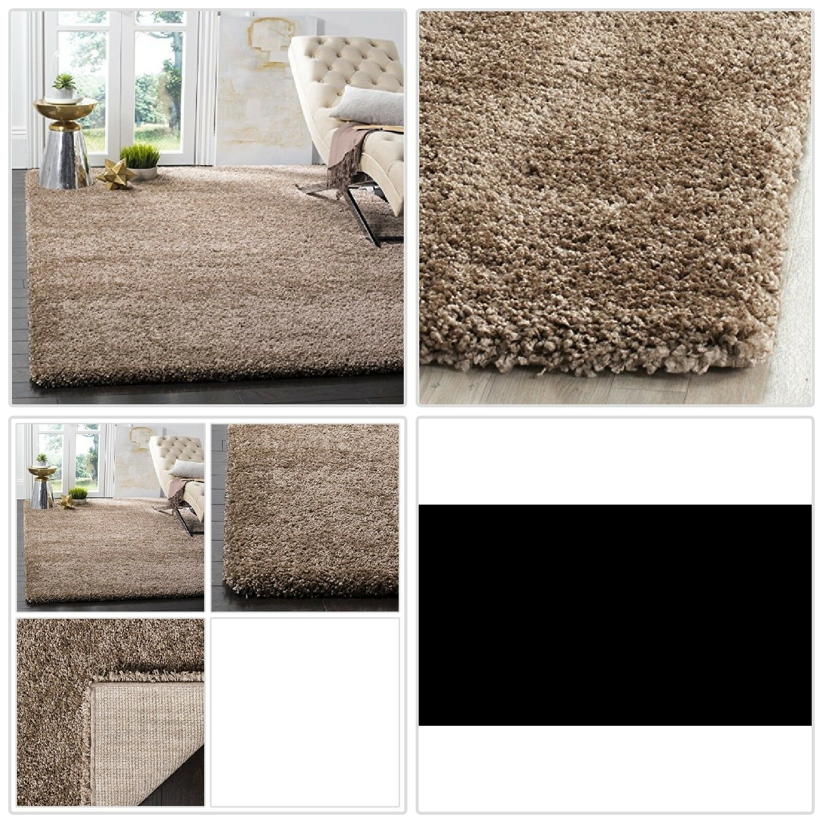 Cozy Shag Modern Soft Fluffy Solid Area Rugs Shaggy Home Bedroom Carpet Floor