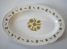 Nikko Ironstone Marigold Serving Dish Oval Platter Japan VTG - $19.95