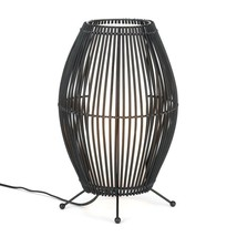 Bedside Table Lamp, Metal Slat Convex Decorative Living Room Lamps Table - $63.39