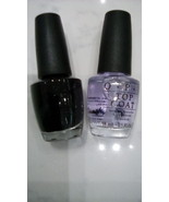 OPI NaiL Lacquer Black Onyx NL T02 & OPI Top Coat NT T30 Nail Polish Set... - $16.90