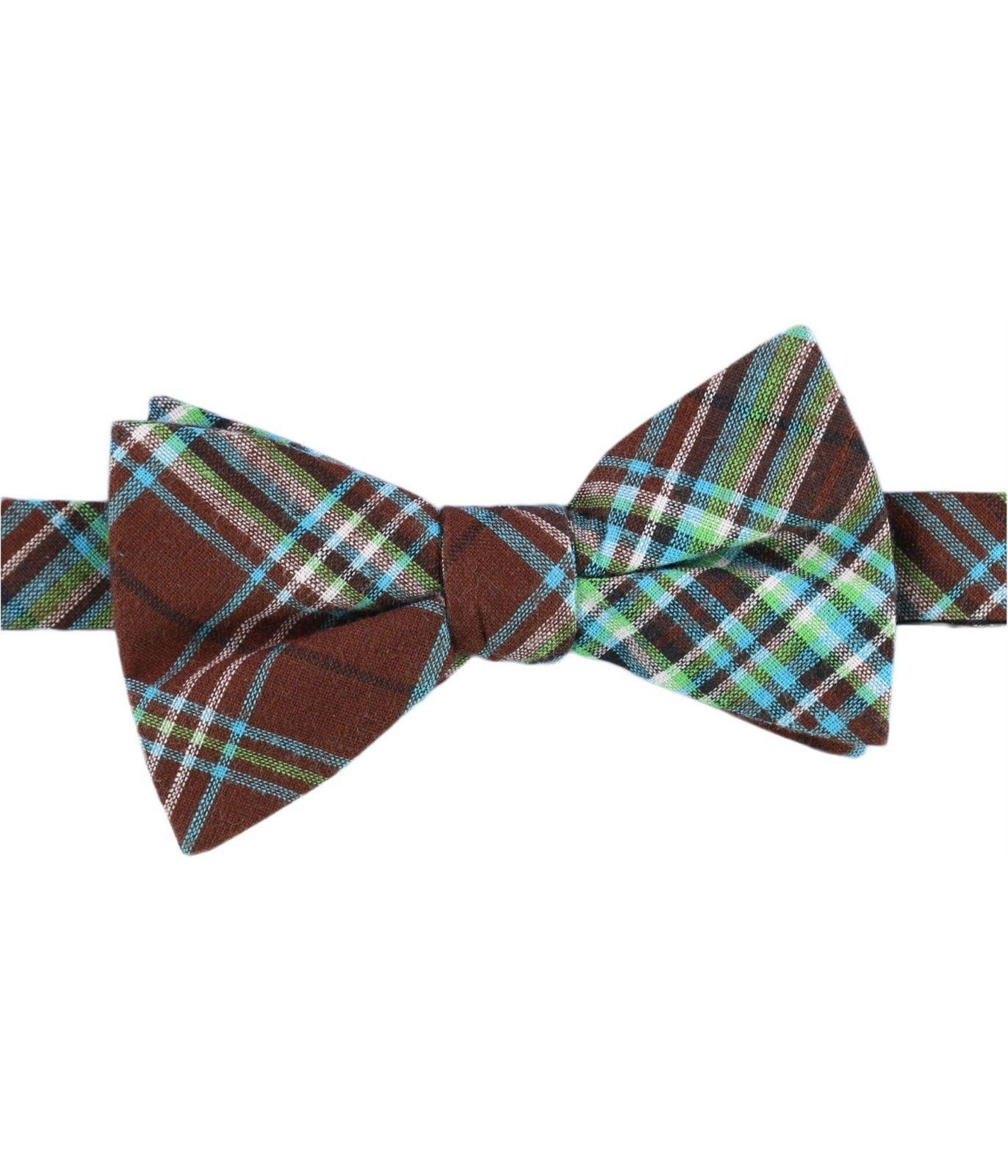 Countess Mara Plaid Bow Tie Brown/Multi