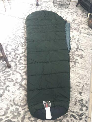 """SLUMBERJACK Sleeping Bag Rogue River Hollofil II Washable Dark Green 32"""" x 82""""  image 5"""