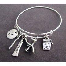 Dental Hygienist Bangle,Dental Bracelet,Dentist Charm Bracelet,Dentist Jewelry - $14.40