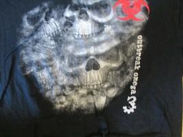 Outbreak Omega 3 Skulls T Shirt size L - $2.99