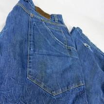VTG Nike BRS Products Blue Ribbon Sports Blue Denim Jeans W 38 L 32 Bagg... - $109.99