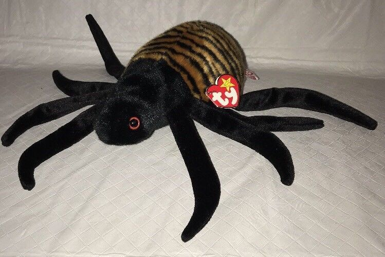 Ty BEANIE BUDDY SPINNER the SPIDER 1999, RETIRED & NEW MWMT image 1