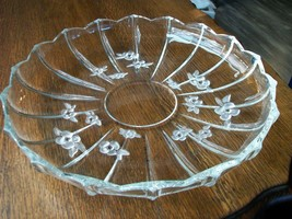 Vintage Mikasa Walther-Glas Large Round Serving Platter Dish Made in Germany - $26.92