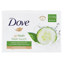 "(12) Dove ""Go Fresh"" Fresh Touch Beauty Cream Bar with Cucumber & Green Tea Scen - $34.64"