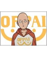 One Punch Man Anime Saitama Wearing Oppai Shirt Refrigerator Magnet NEW ... - $3.99
