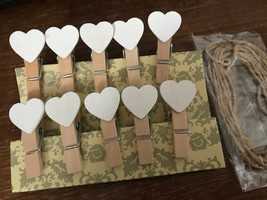 30pieces White Wooden Clips,Pin Clothespin,Special Gifts for Wedding Dec... - $3.82