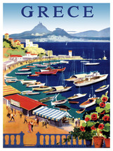 "18x24""Travel Poster on Canvas.Home Room Interior design.Grece.Greece.6571 - $51.43"