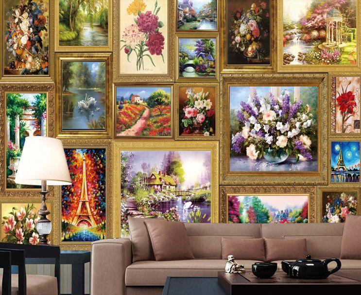 3d viele blumen bilder 2 fototapeten wandbild fototapete bildtapete familie de wallpaper murals. Black Bedroom Furniture Sets. Home Design Ideas