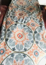 Pottery Barn Veronica Duvet Cover Coral Gray King 3 Euro Shams Medallion... - $99.00